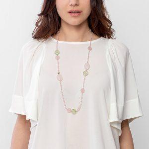 colgante cuarzo rosa sakura