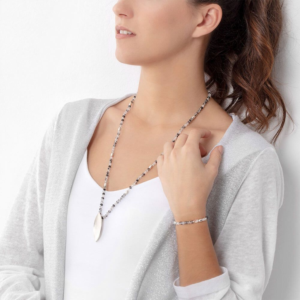Long crystal quartz necklace marybola