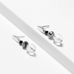 quartz Alibel earrings