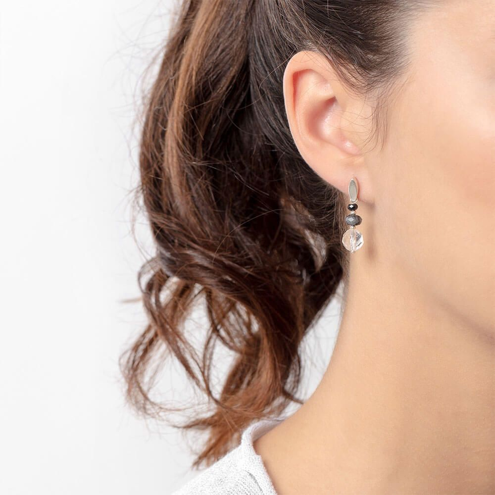 torumaline and quartz Alibel earrings
