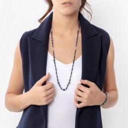 collar largo azul