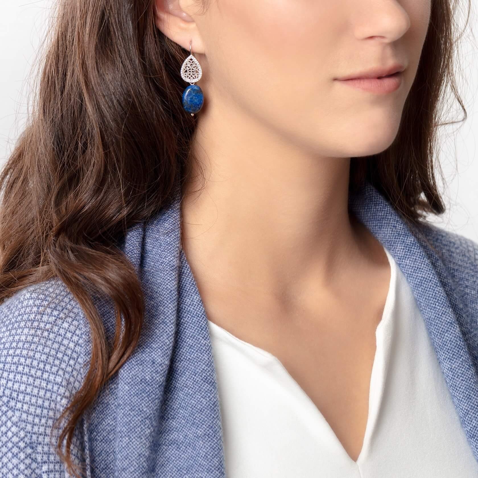 pendientes azul azurel