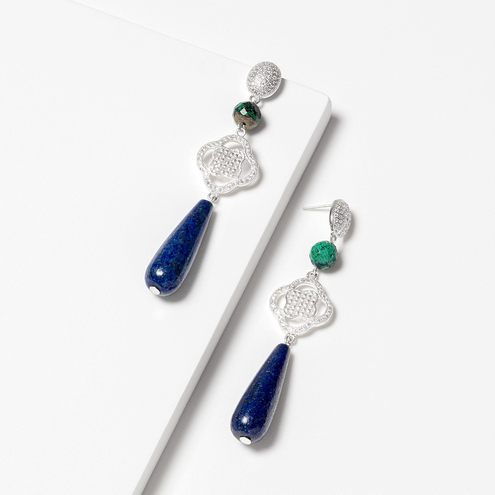 Blue drop earrings | Marybola