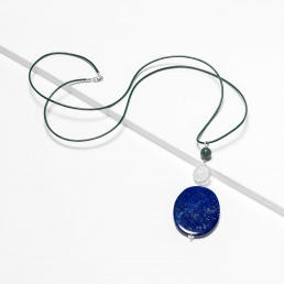 Lapis and agate pendant marybola