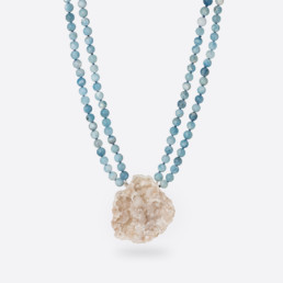 Agate aquamarine necklace