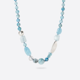 Irregular Kara aquamarine necklace