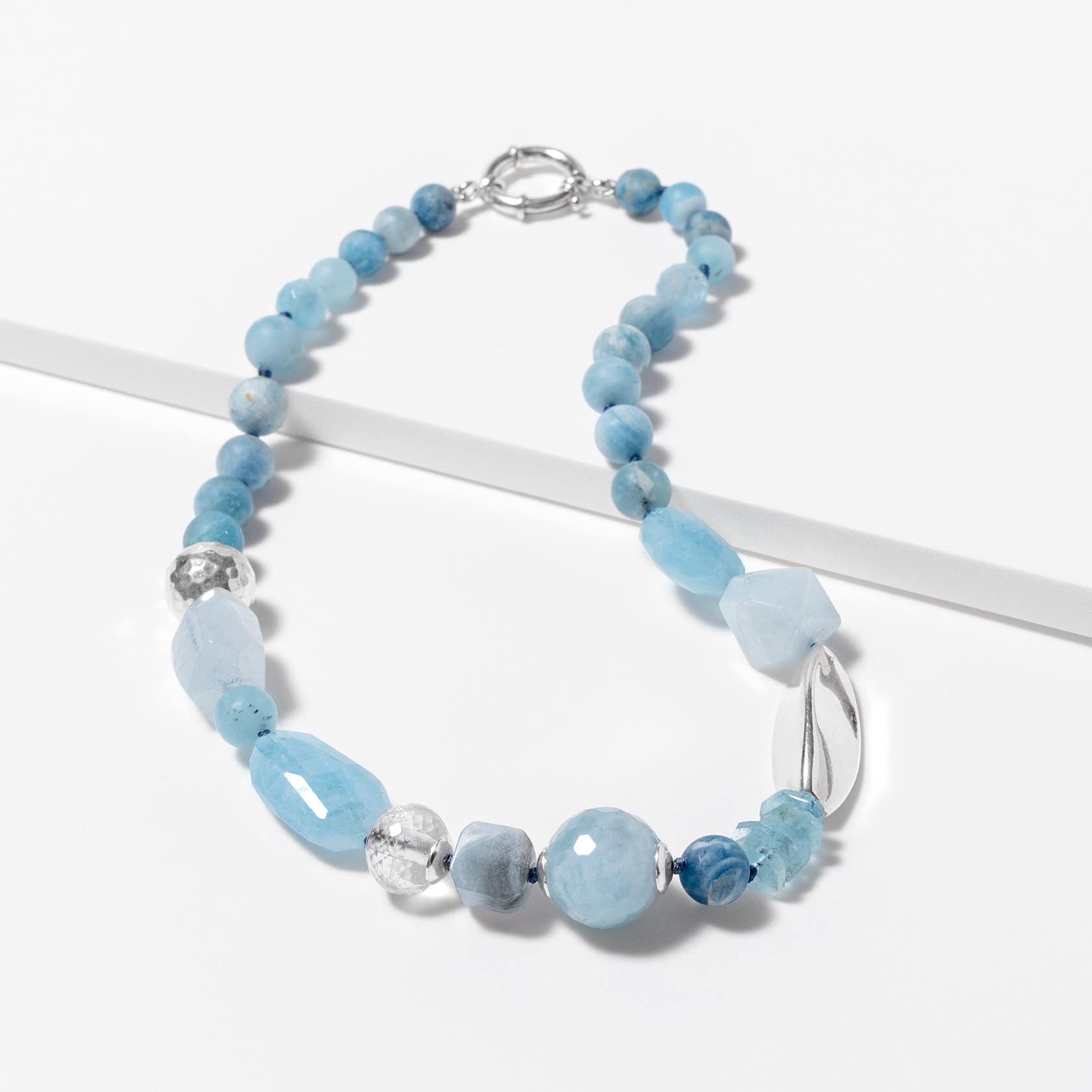 Aquamarine irregular necklace