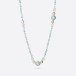 Kara aquamarine long necklace