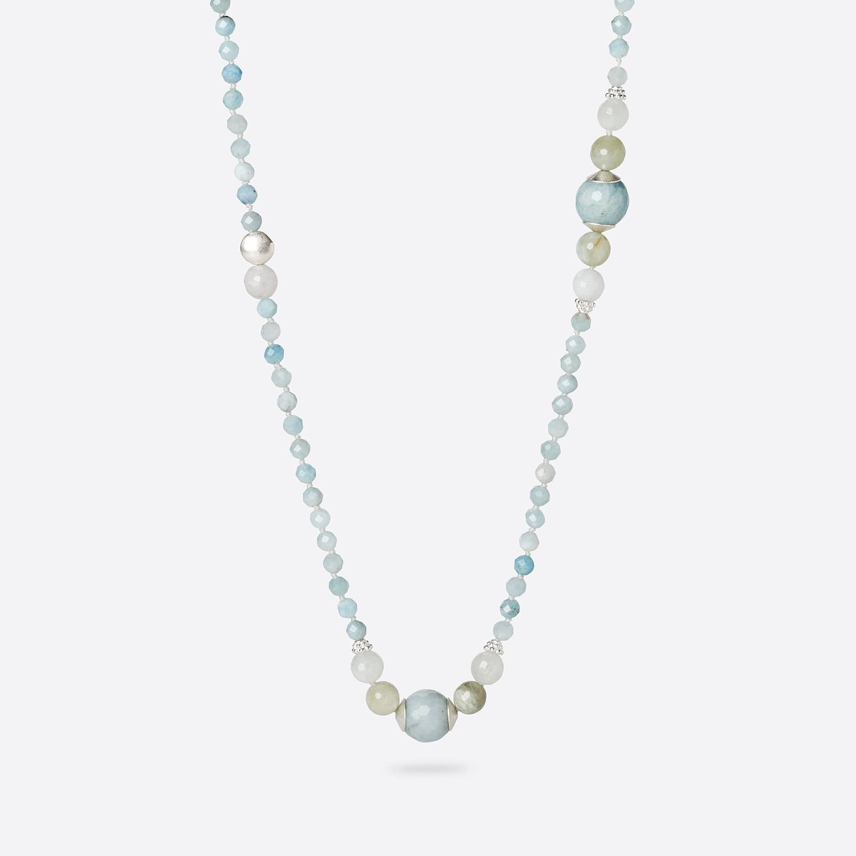 Kara aquamarine long necklace