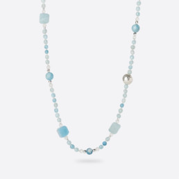 Aquamarine long necklace