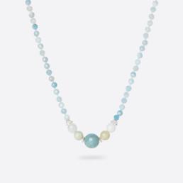 Kara aquamarine short necklace