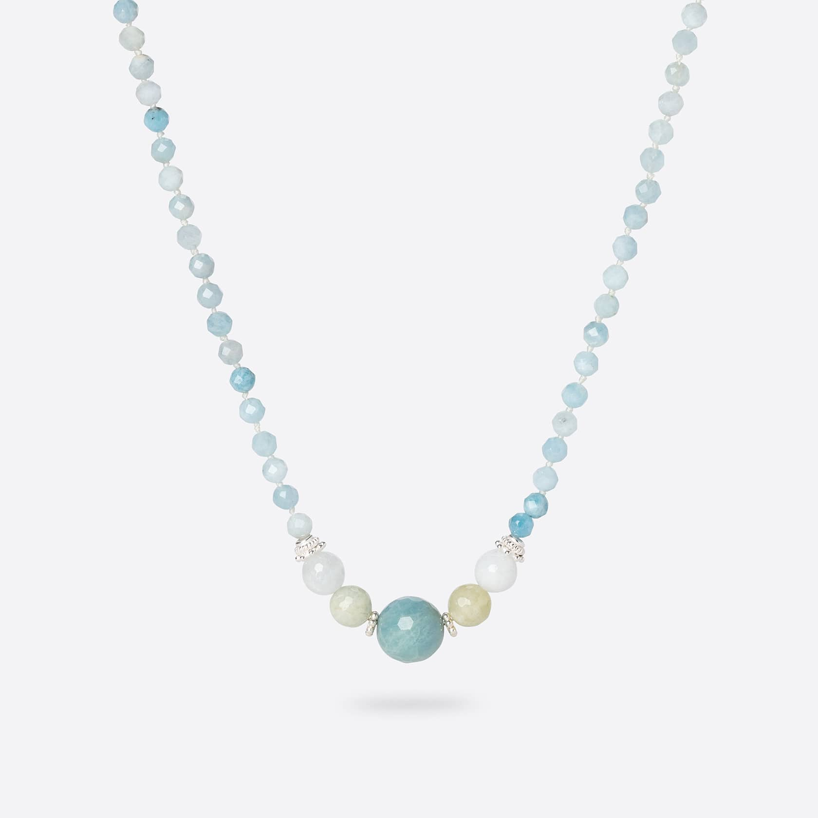 Kara aquamarine short necklace