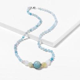 Kara aquamarine short necklace marybola
