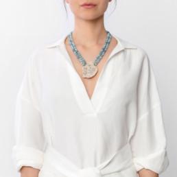 agate kara aquamarine necklace