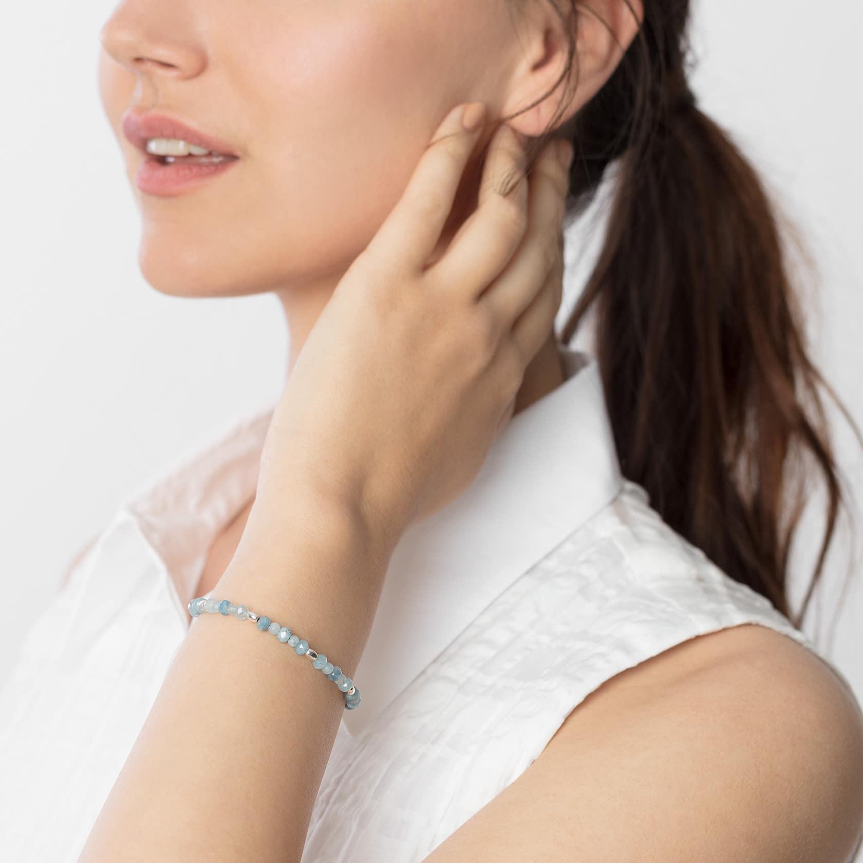 Kara aquamarine bracelet