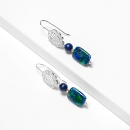 Azurite and lapis earrings