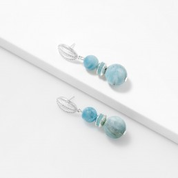 zircons and aquamarine earrings