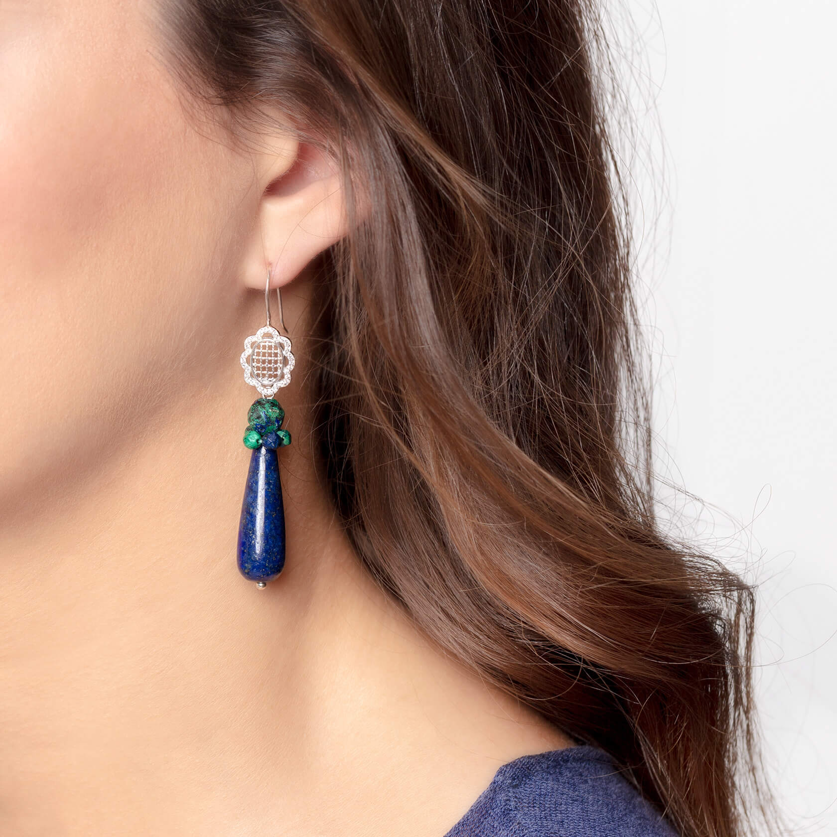 Drop lapis earrings marybola