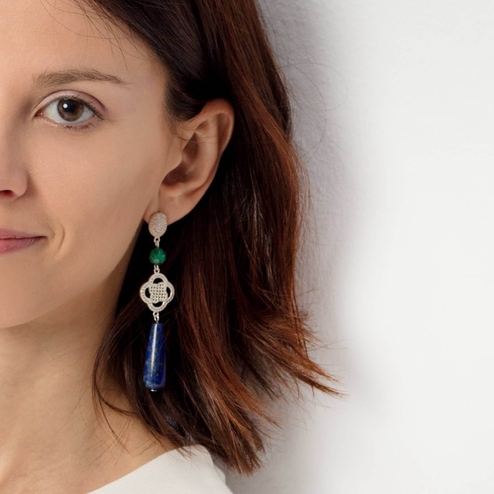 Drop lapis earrings marybola