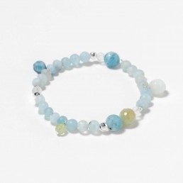 Aquamarine pendants bracelet