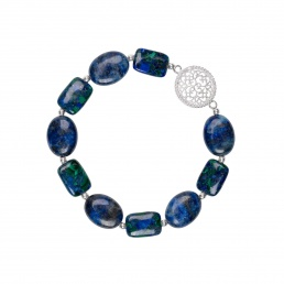 Mandala bracelet with lapis