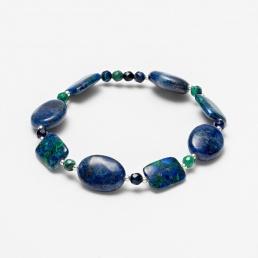 Azurite and lapis bracelet  marybola