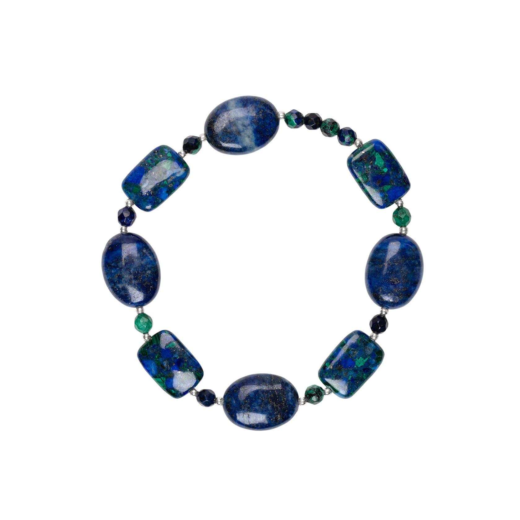 Azurite and lapis bracelet