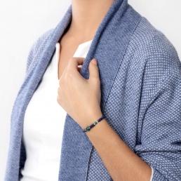 Lapis and azurite elastic bracelet marybola