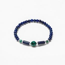 Lapis and azurite elastic bracelet