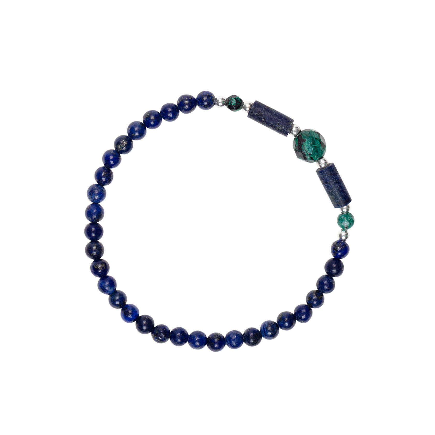 Lapis elastic bracelet