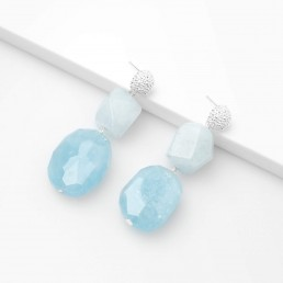 aquamarine earrings with shapes
