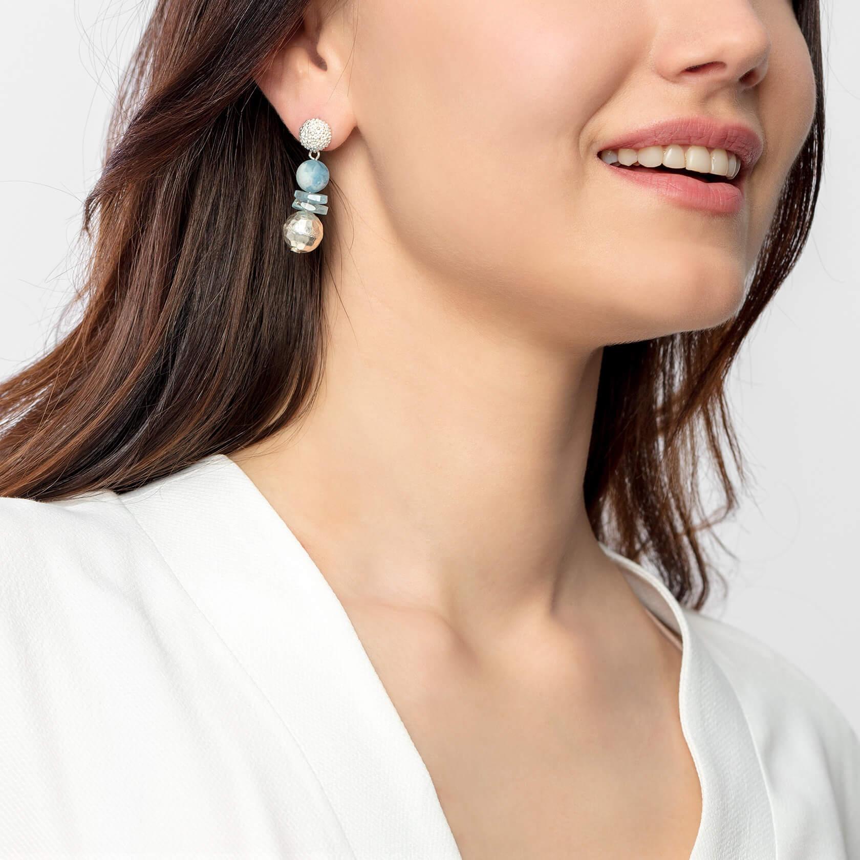 marybola aquamarine and silver earrings
