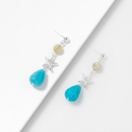 blue quartz aquamarine earrings