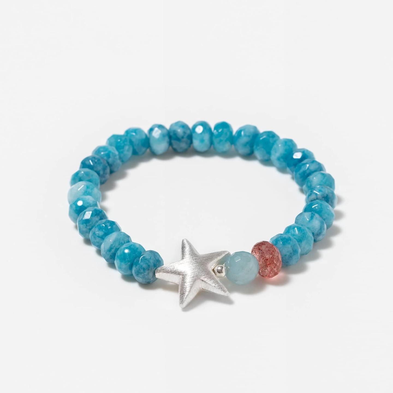 pulsera cuarzo azul estrella