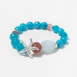 pulsera cuarzo azul estrella grande