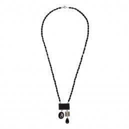 asimetric onix and shungit necklace marybola