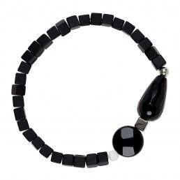 Onyx and pyrite bracelet