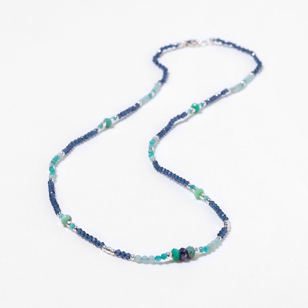 Iolite and amazonite moana necklace