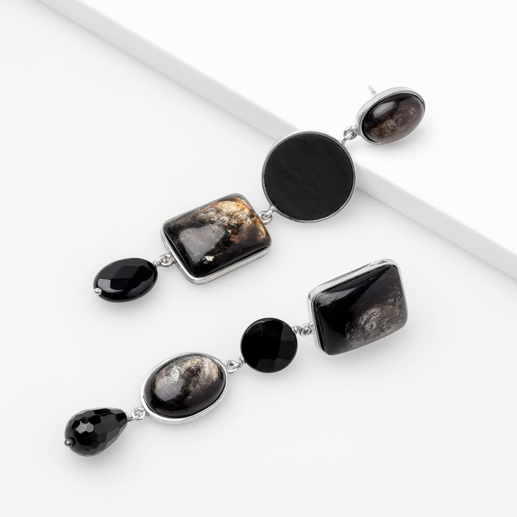 Shungite and onyx earrings marybola