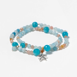 angelite and aquamarine capri bracelet