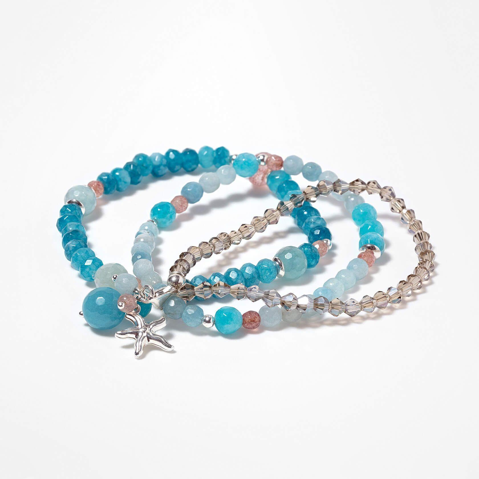Triple quartz capri bracelet