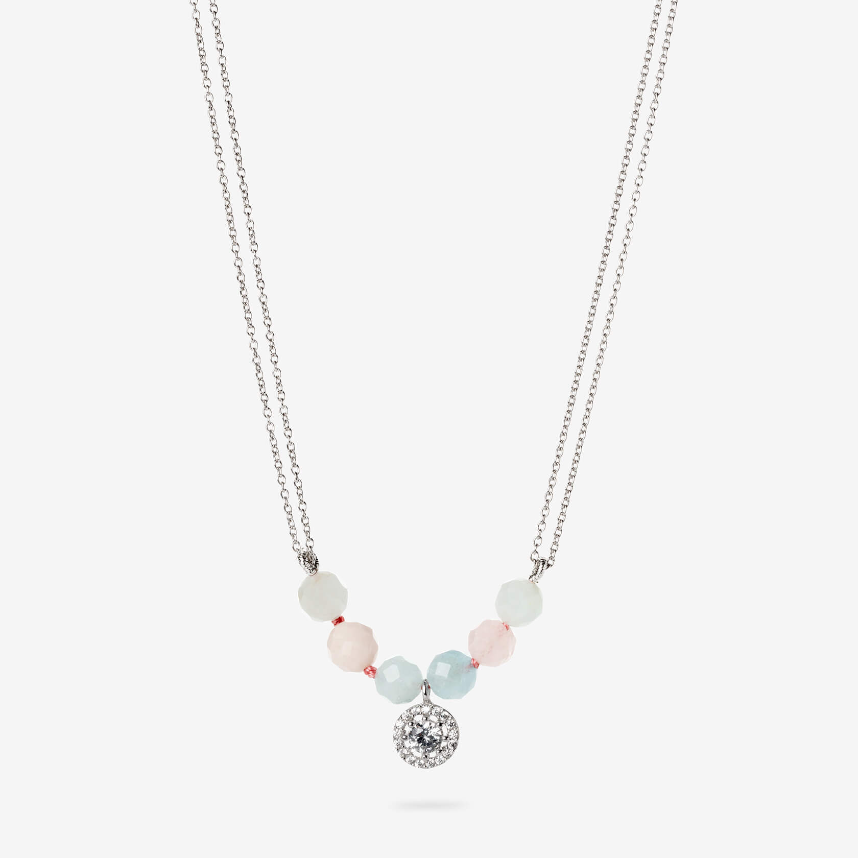 Chain morganite necklace