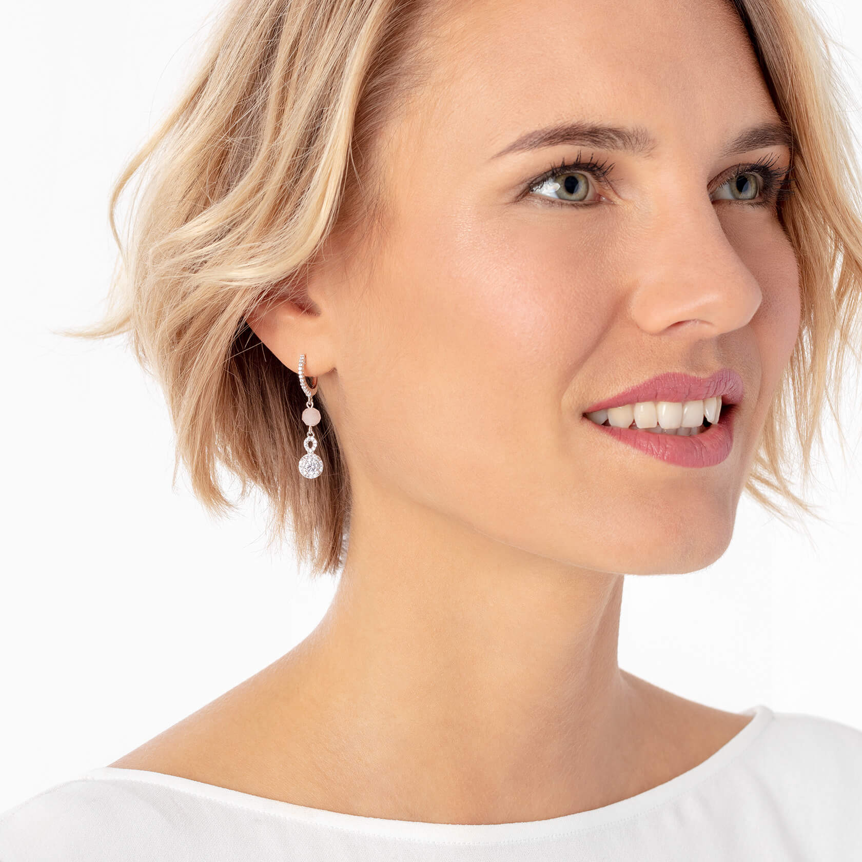 Long morganite earrings marybola