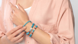 pulseras artesanales minerales