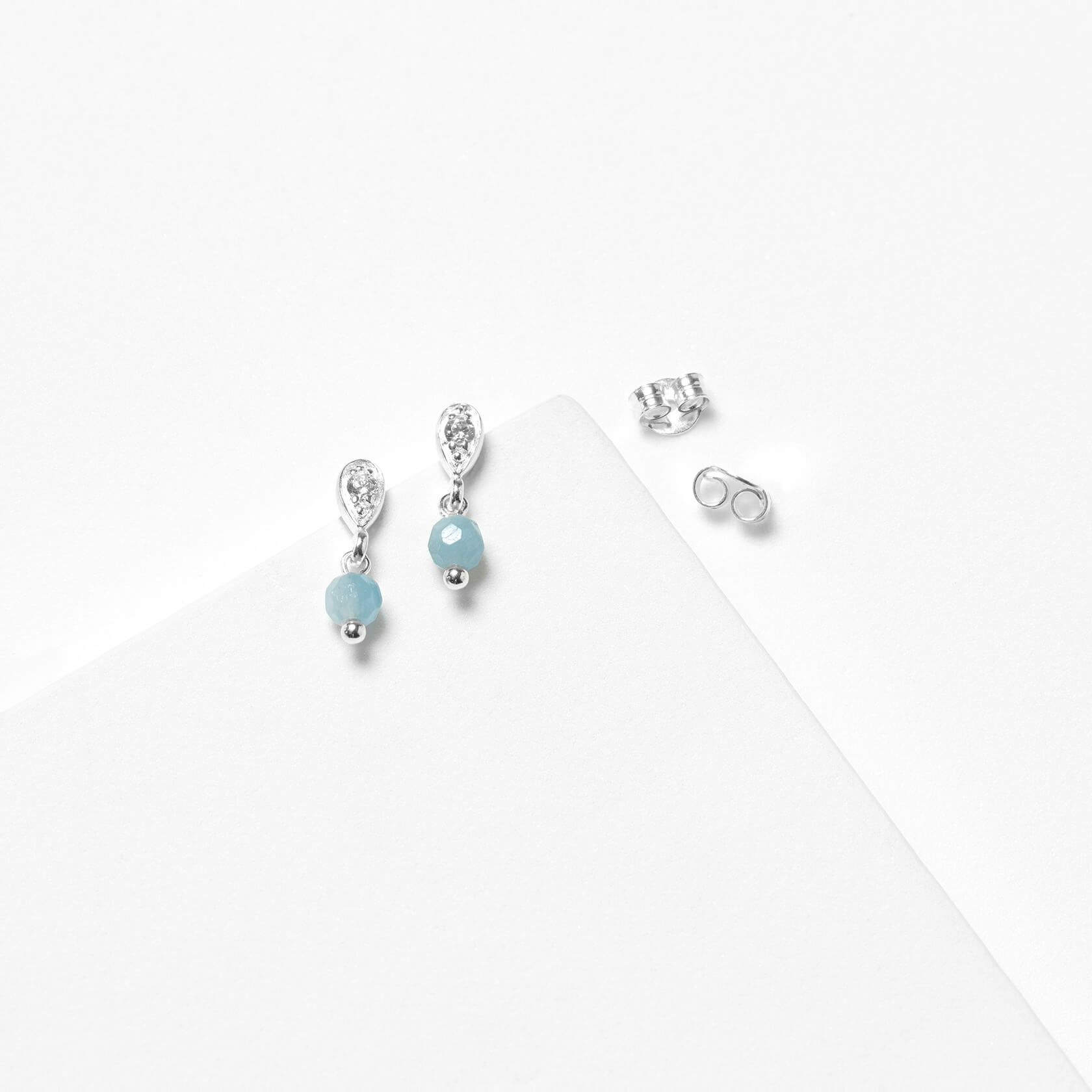Nube aquamarine earrings kid