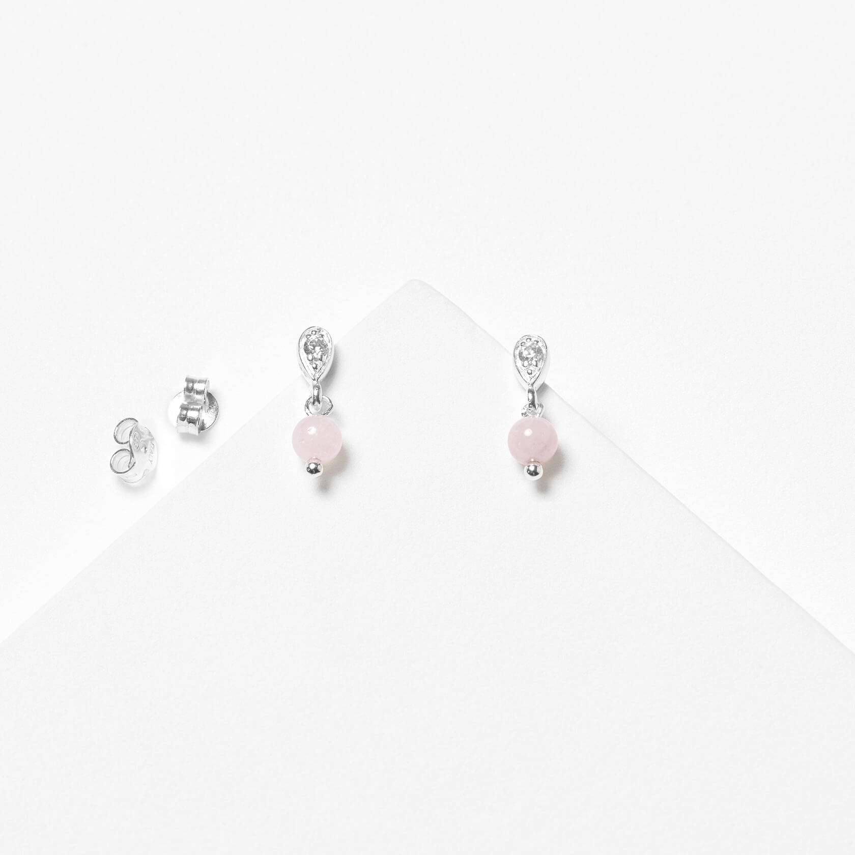 Rose morganite Nube earrings