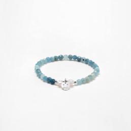Deer aquamarine nube bracelet