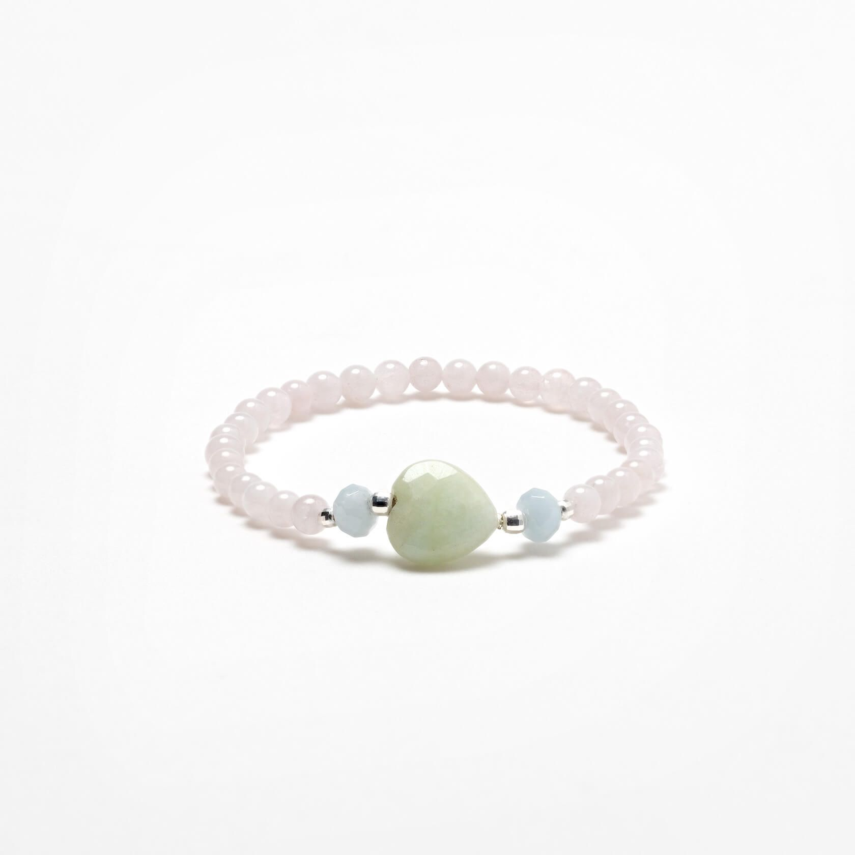 Nube heart morganite bracelet