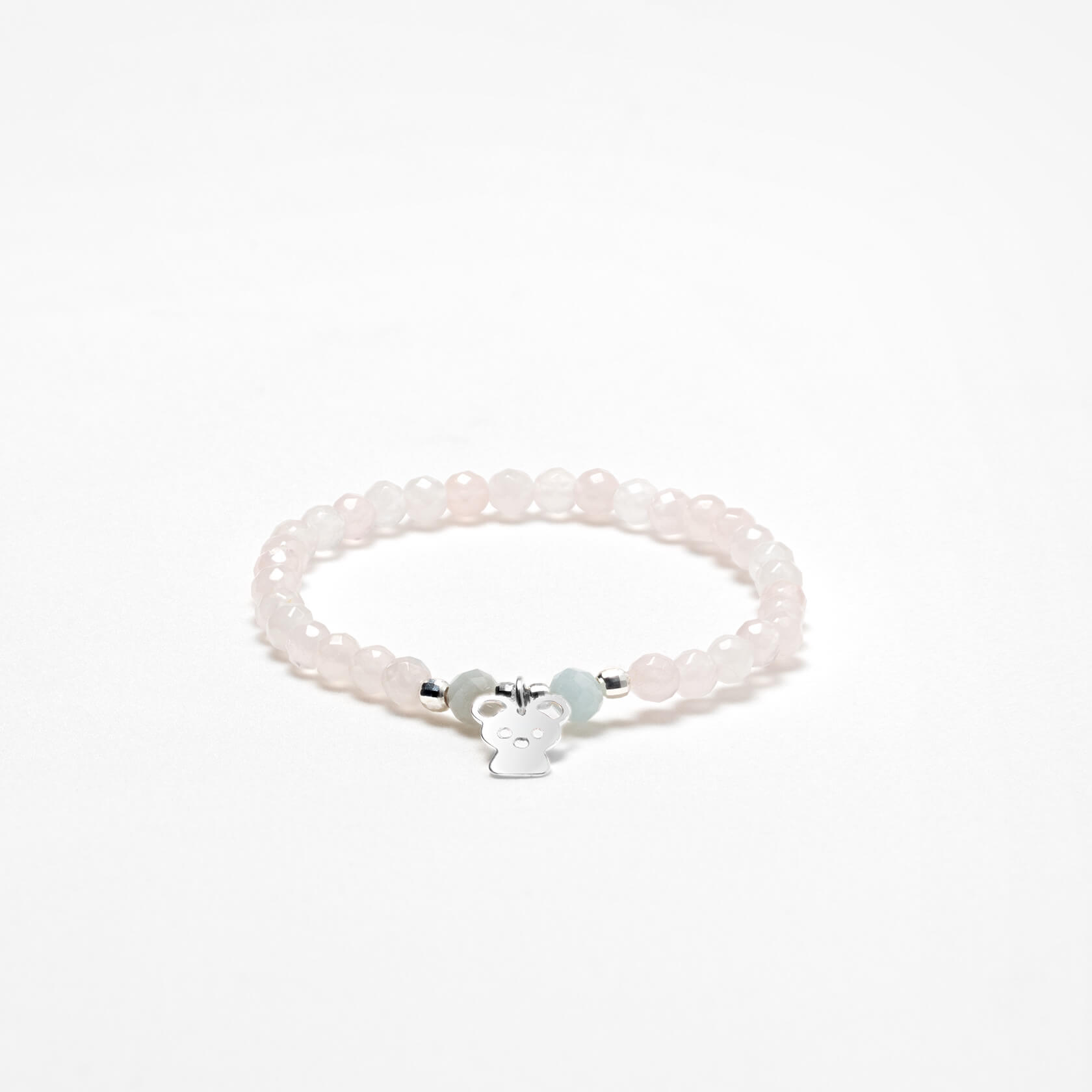 Nube rose quartz and aquamarine bracelet
