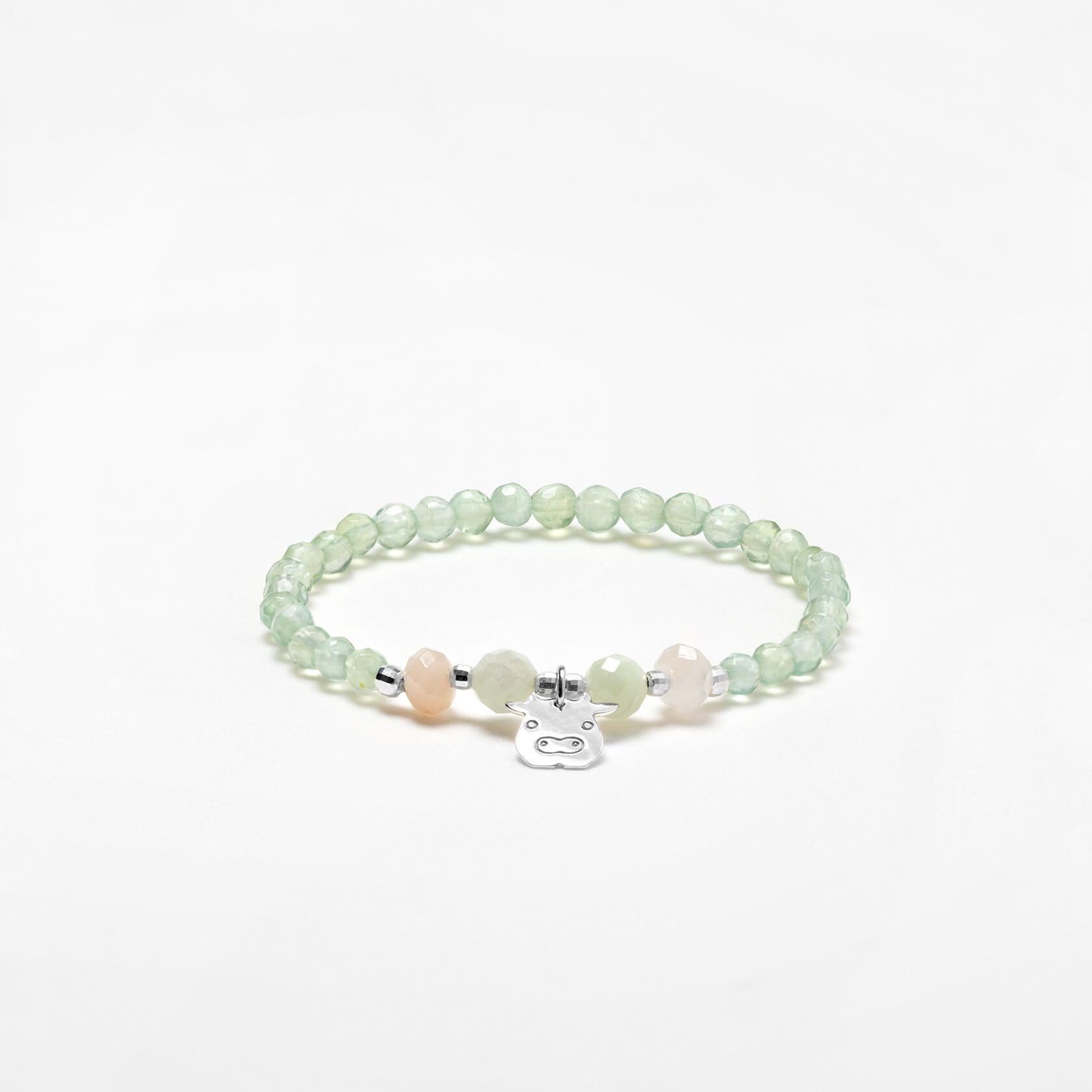 Prehnite Nube bracelet